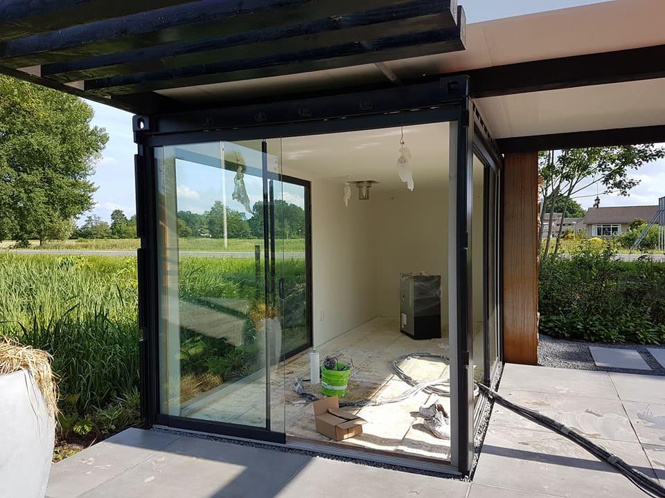 Design tuinhuis. great strak modern met overkapping ucue with design